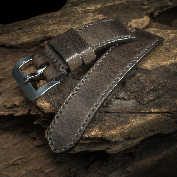ANILINE COWHIDE STRAP (Tea brown , for Panerai)