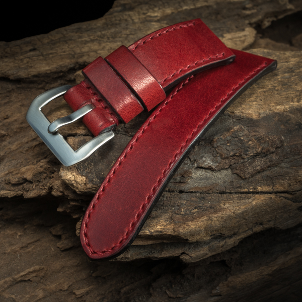 ANILINE COWHIDE STRAP (Red , for Panerai)