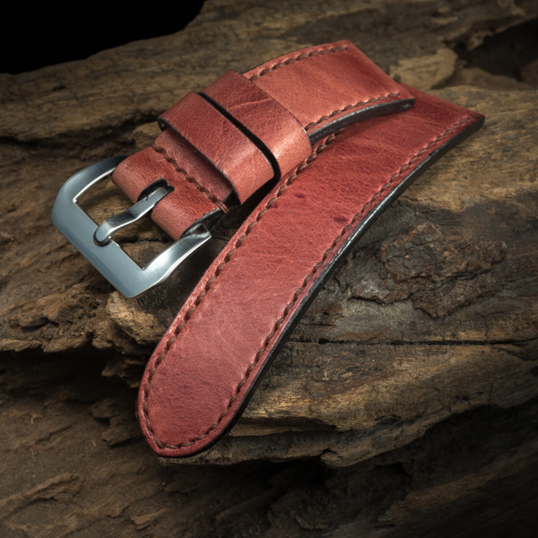 ANILINE COWHIDE STRAP (Warm pink, for Panerai)
