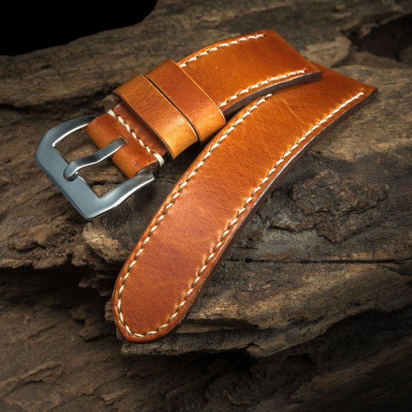 ANILINE COWHIDE STRAP (Orange, for Panerai)
