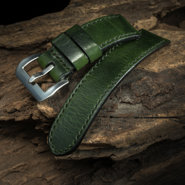 ANILINE COWHIDE STRAP (Swamp green, for Panerai)