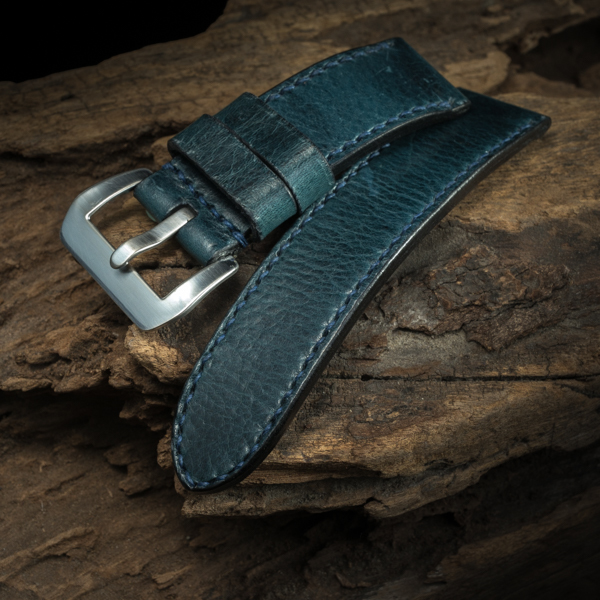 ANILINE COWHIDE STRAP (Gray blue, for Panerai)