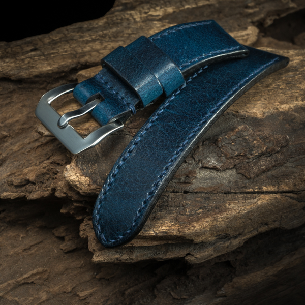 ANILINE COWHIDE STRAP (Deep blue, for Panerai)