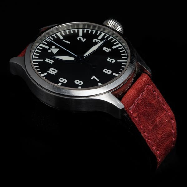 ANILINE COWHIDE STRAP (Burgundy , for IWC)