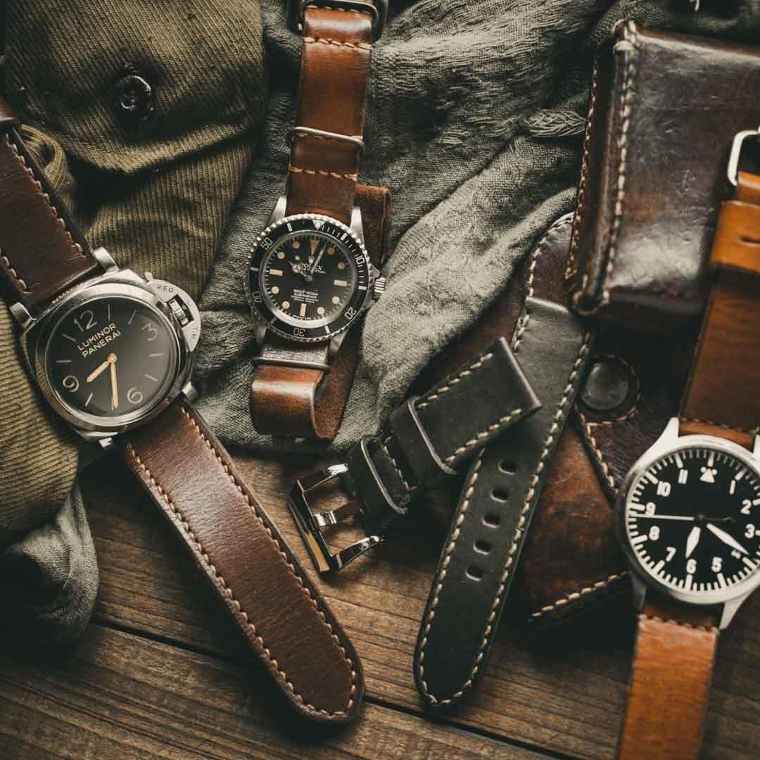 「WWII 二戰系列」舊化復古錶帶