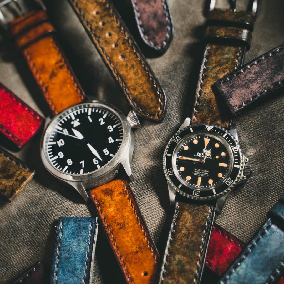 手染迷彩錶帶