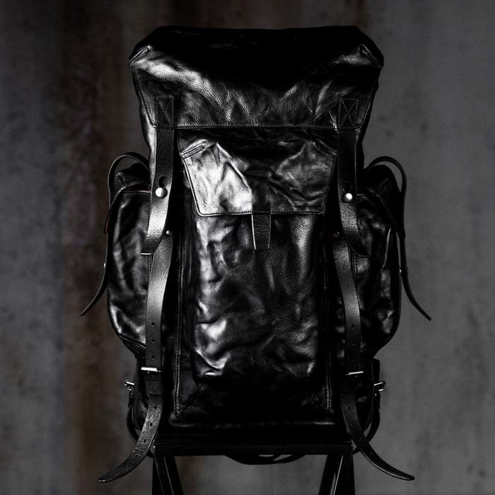 """PHANTOM"" LEATHER BACKPACK"