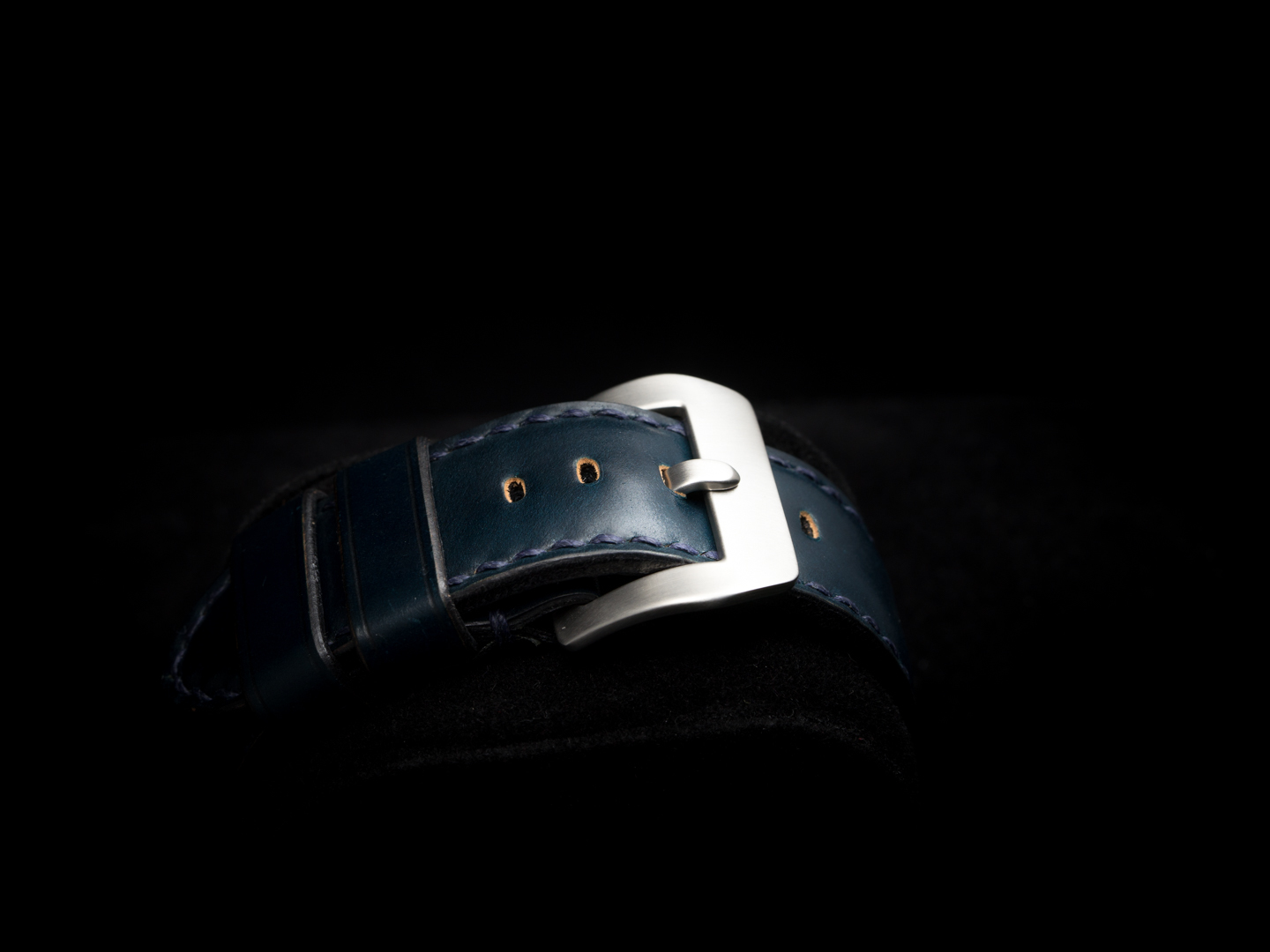 HORWEEN SHELL CORDOVAN LEATHER STRAP DEEP BLUE #50