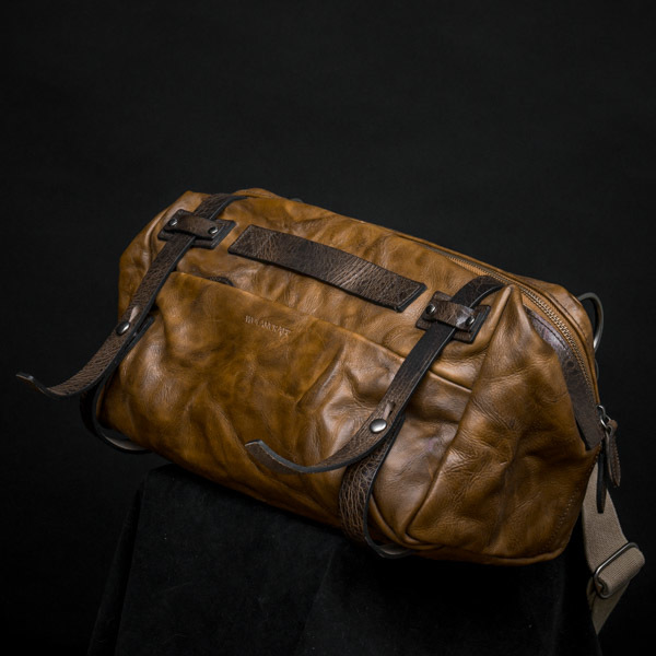 """NIGHT RIDER"" LEATHER SLING BAG  (60-day preorder)"