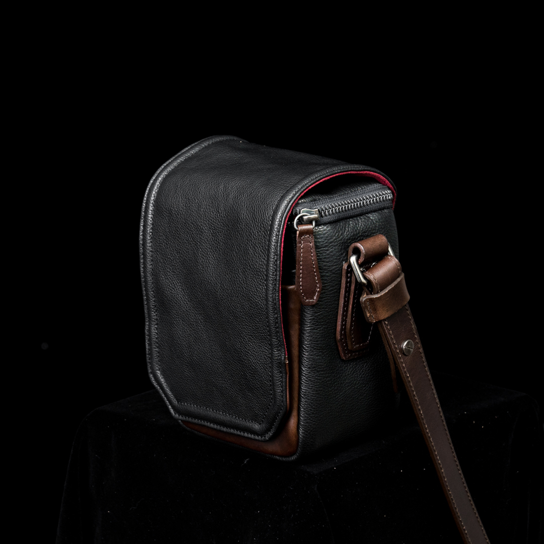 """RYKER"" FULL LEATHER CAMERA BAG (XS) - 45 days preorder"