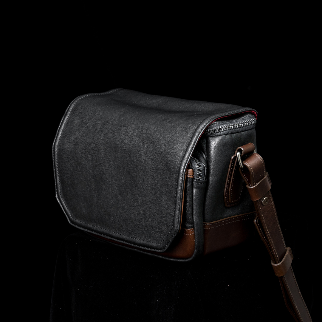 """RYKER"" FULL LEATHER CAMERA BAG (S)"