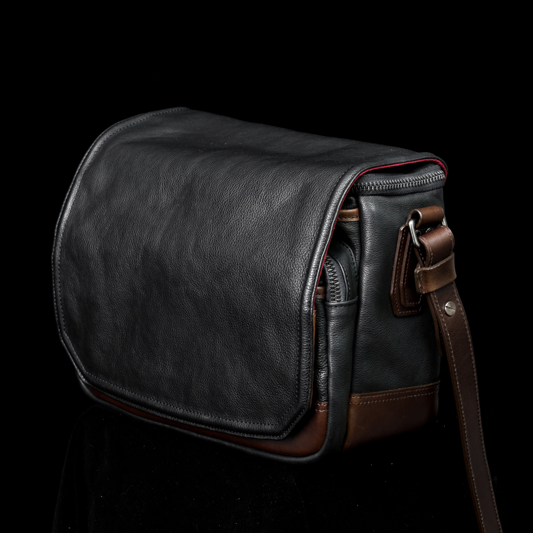 """RYKER"" FULL LEATHER CAMERA BAG (M) - 45 days preorder"