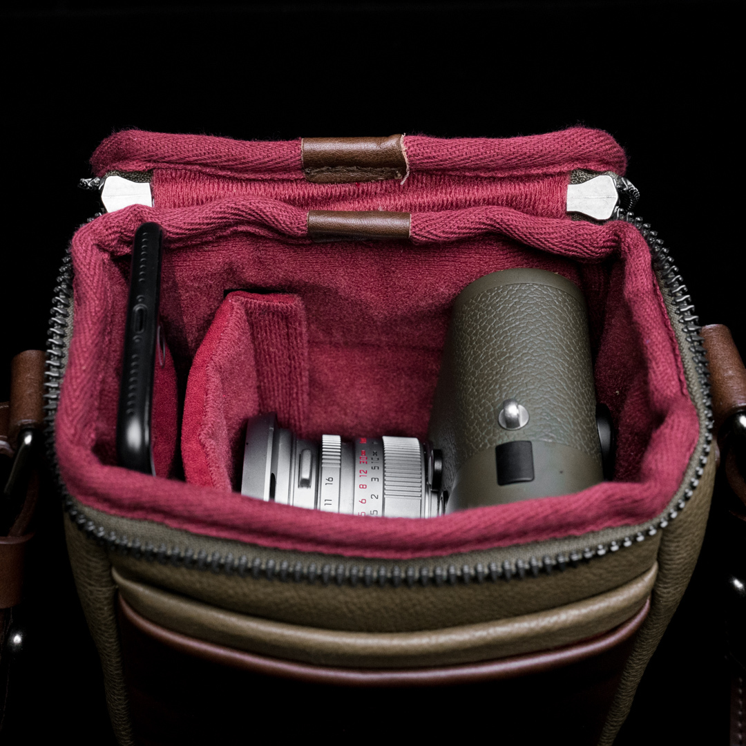 """RYKER"" FULL LEATHER CAMERA BAG (XS) - 60 days preorder"