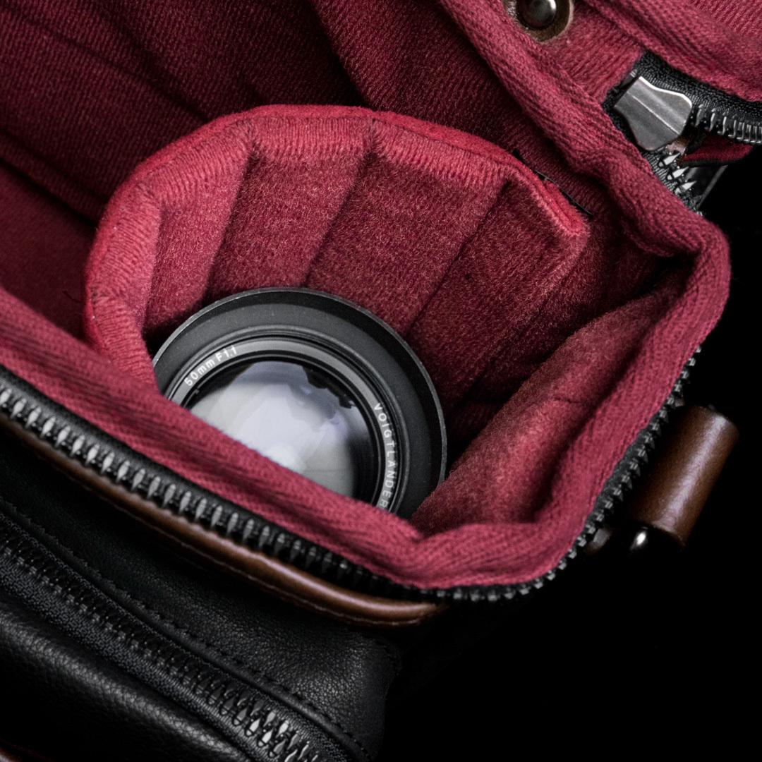 WOTANCRAFT full leather camera bag RYKER