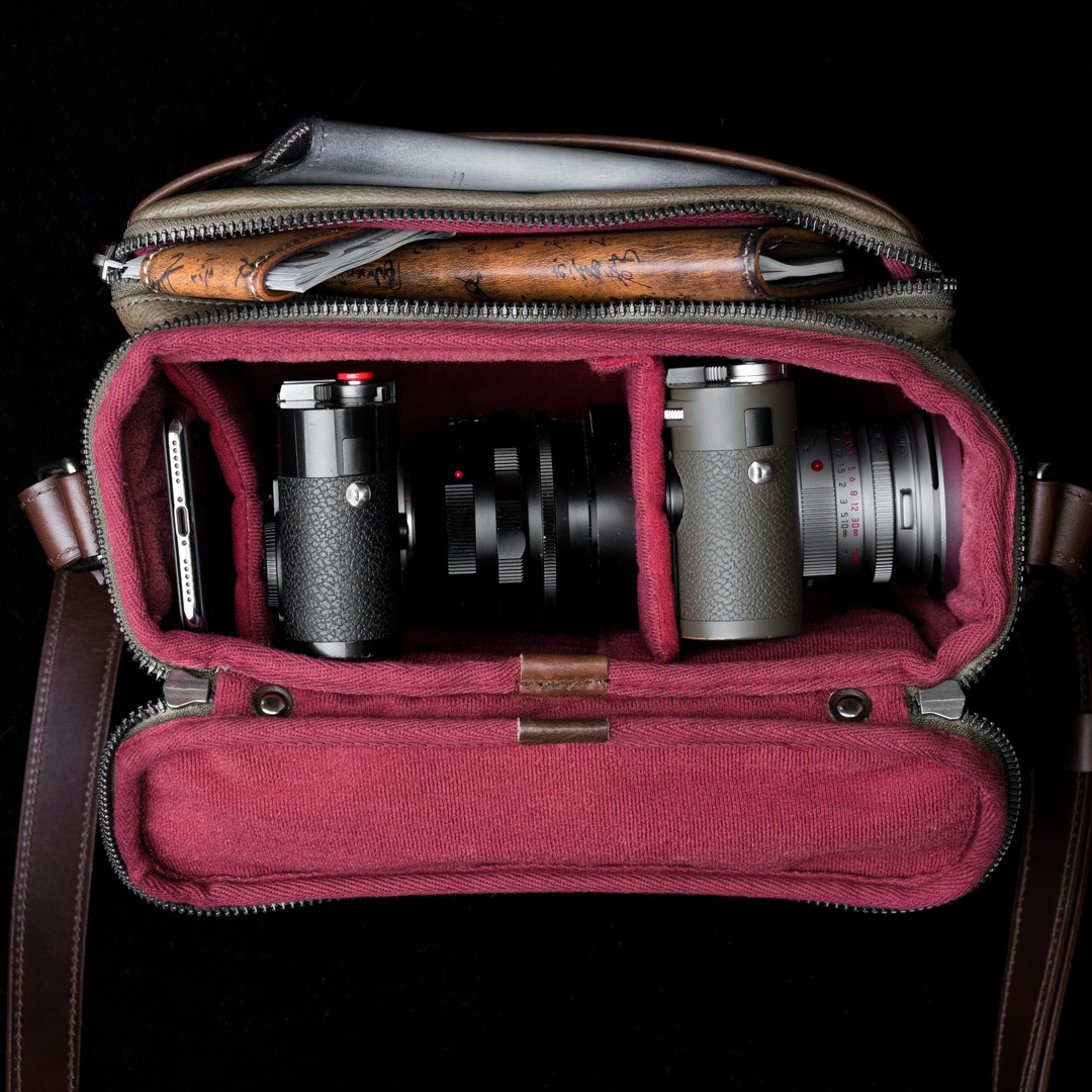 """RYKER"" FULL LEATHER CAMERA BAG (S) - 60 days preorder"
