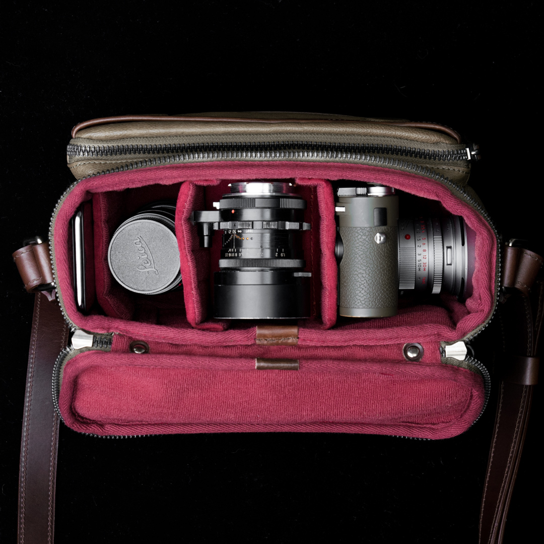 """RYKER"" FULL LEATHER CAMERA BAG (M) - 15 days preorder"