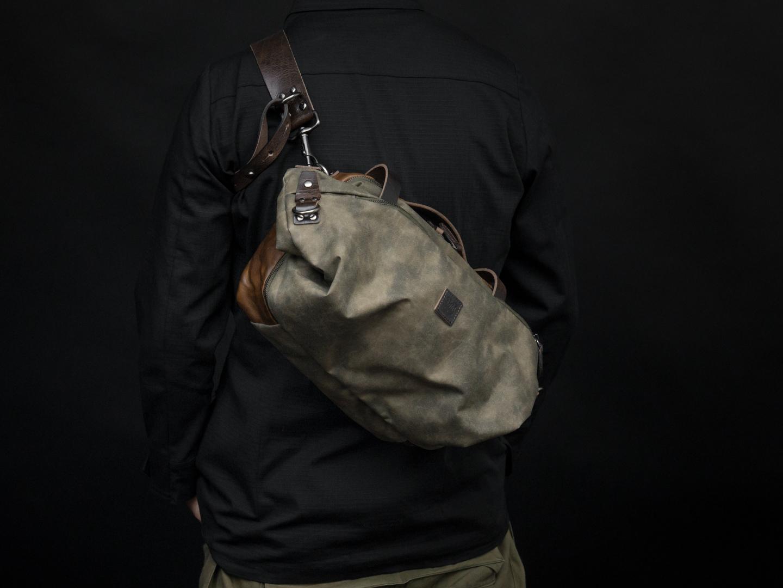SPACEJUMPER folded, sling carried.