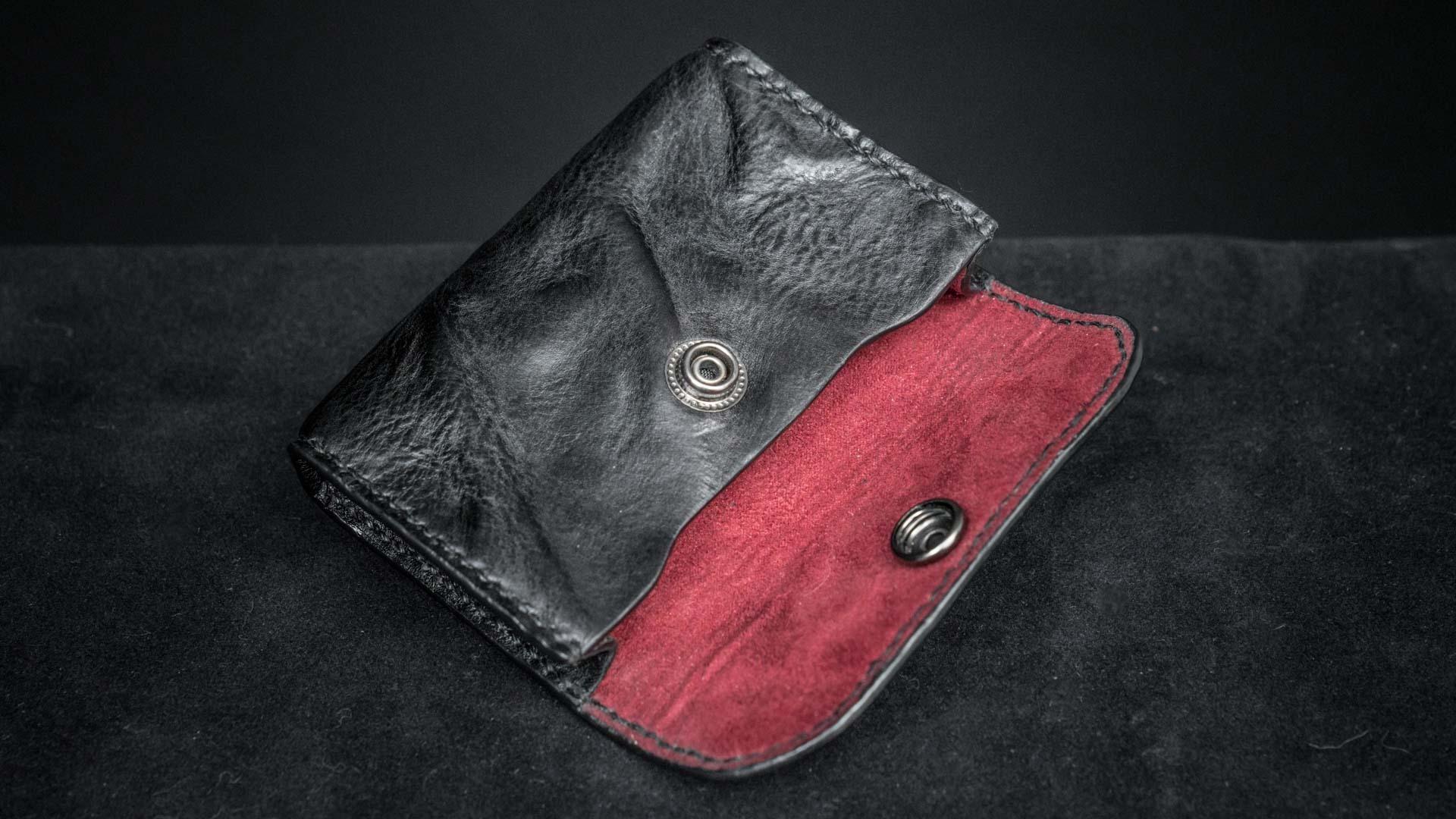 WOTANCRAFT 皮革零錢包/卡片夾(黑)