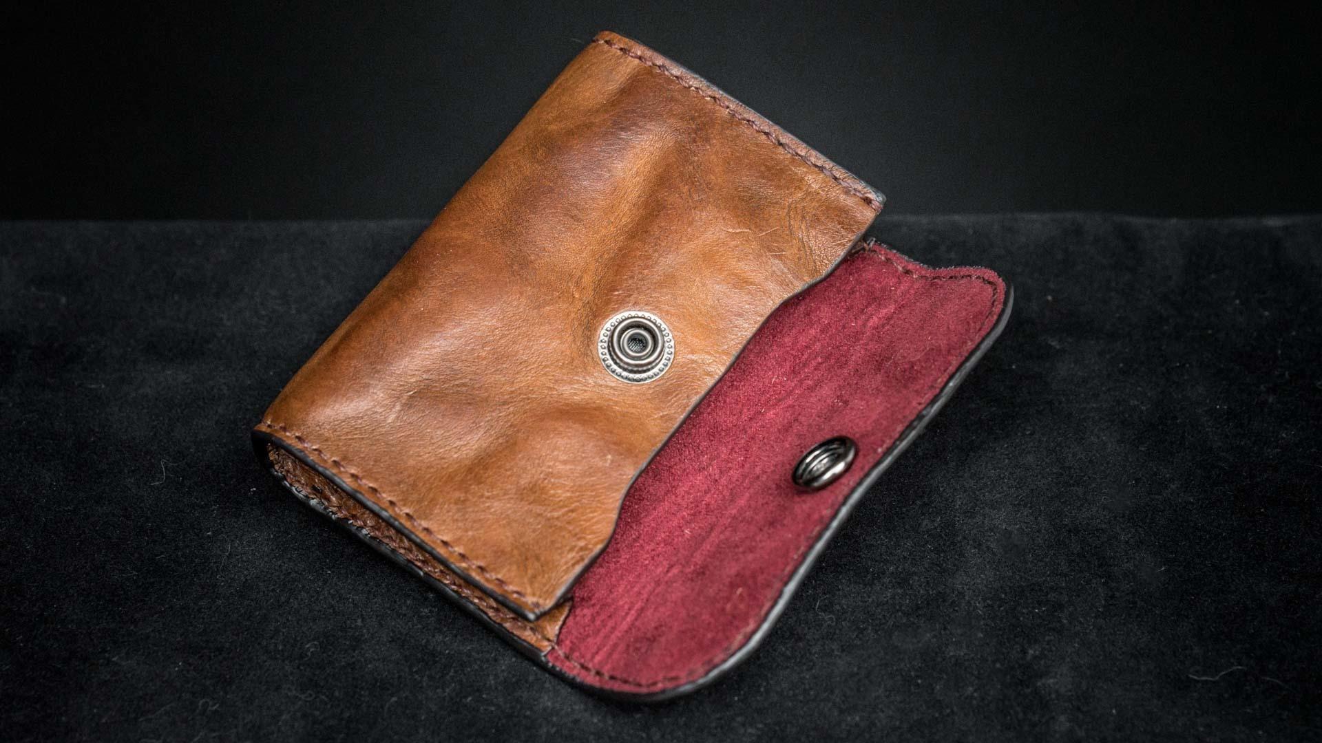 WOTANCRAFT 皮革零錢包/卡片夾(褐)