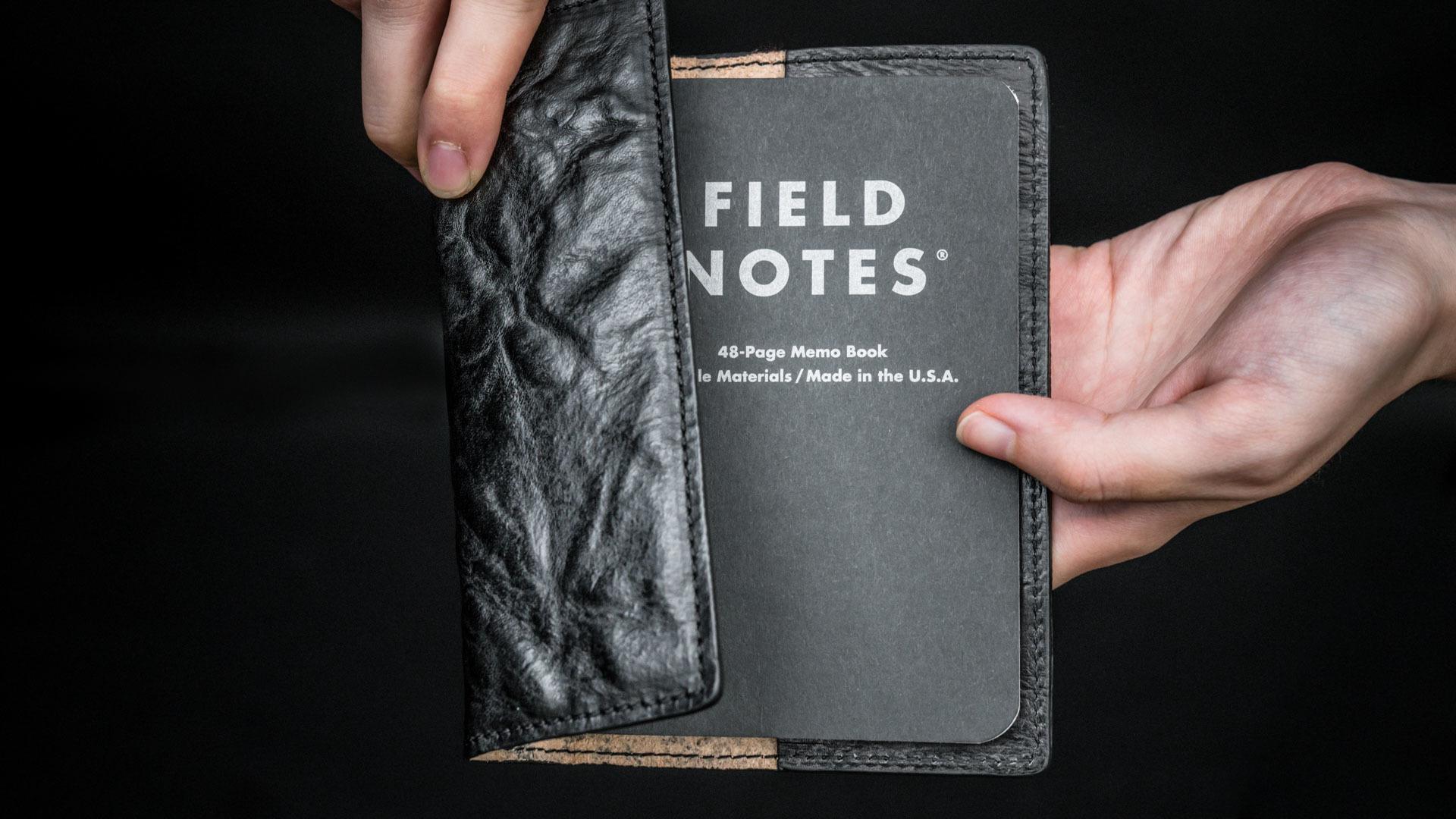 WOTANCRAFT 皮革書套 + 美國 FIELD NOTES 筆記本(黑)