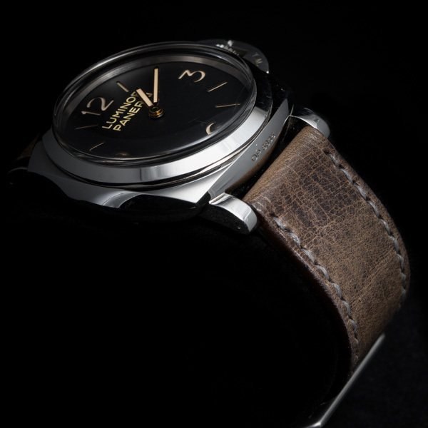 ANILINE COWHIDE STRAP, CREASED (Tea brown , for Panerai)