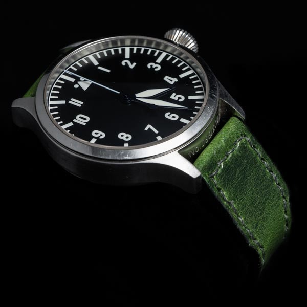 ANILINE COWHIDE STRAP (Swamp green, for IWC)
