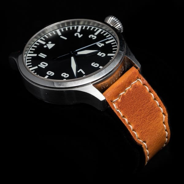 ANILINE COWHIDE STRAP (Orange, for IWC)