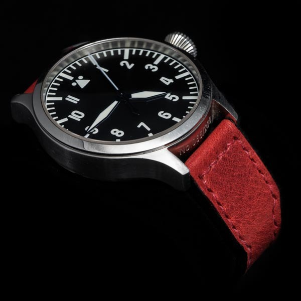 ANILINE COWHIDE STRAP (Red , for IWC)
