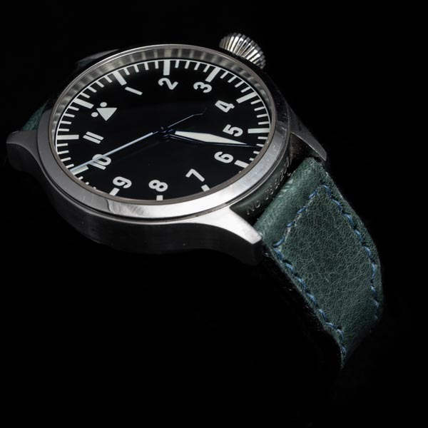 ANILINE COWHIDE STRAP (Gray blue, for IWC)
