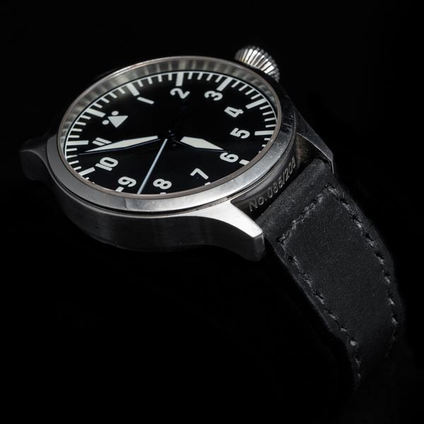 ANILINE COWHIDE STRAP (Black, for IWC)