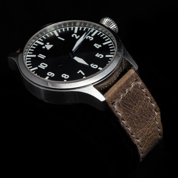 ANILINE COWHIDE STRAP (Tea brown , for IWC)