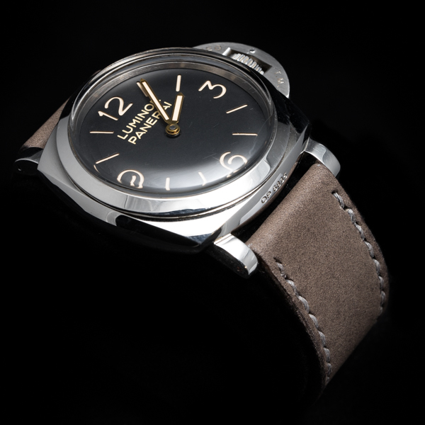 NUBUCK COWHIDE STRAP (Light grey, for Panerai)