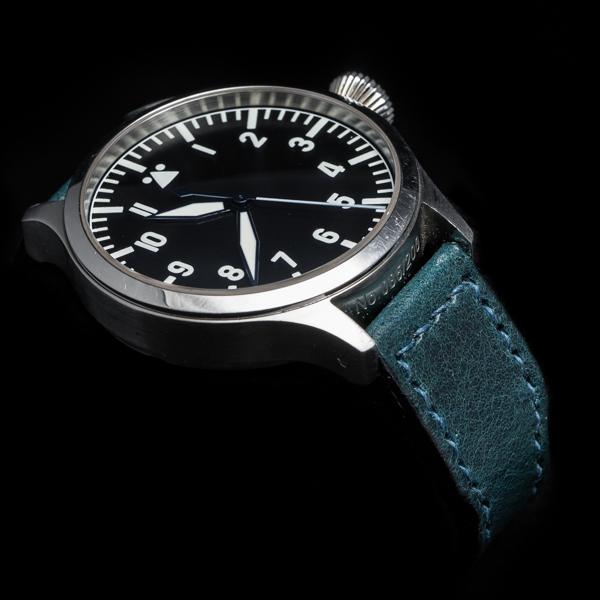 ANILINE COWHIDE STRAP (Deep blue, for IWC)