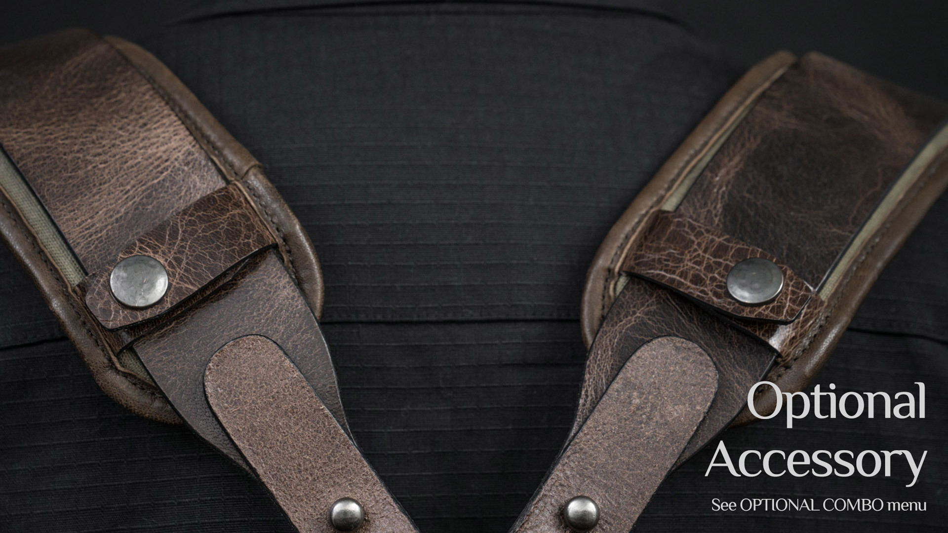Optional accessory shoulder pads.