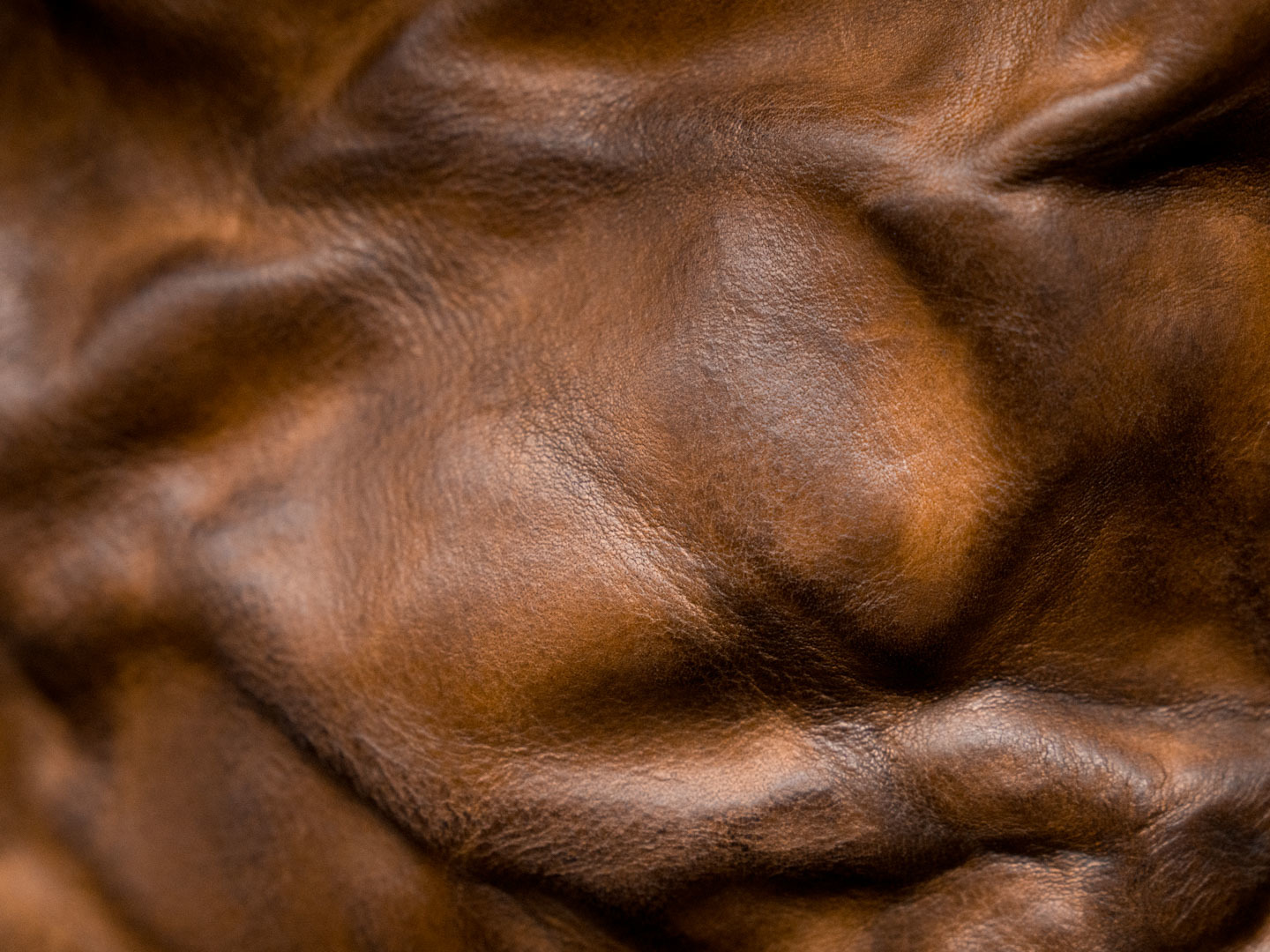 Hand crunched cowhide leather.