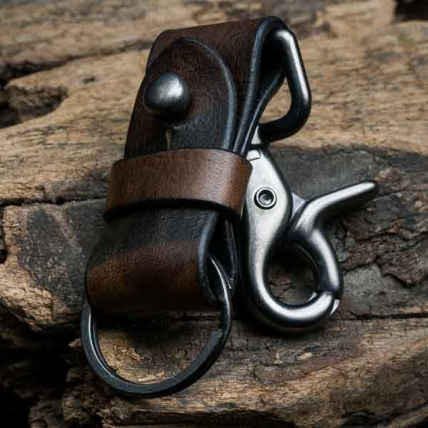 ITALIAN PURE ANILINE LEATHER KEYCHAIN (camouflage) - 14 days preorder