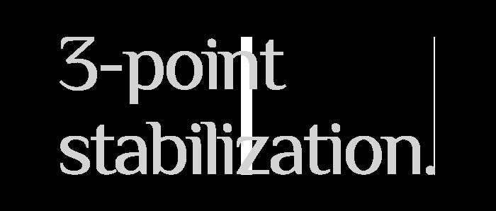3-point stabilization.