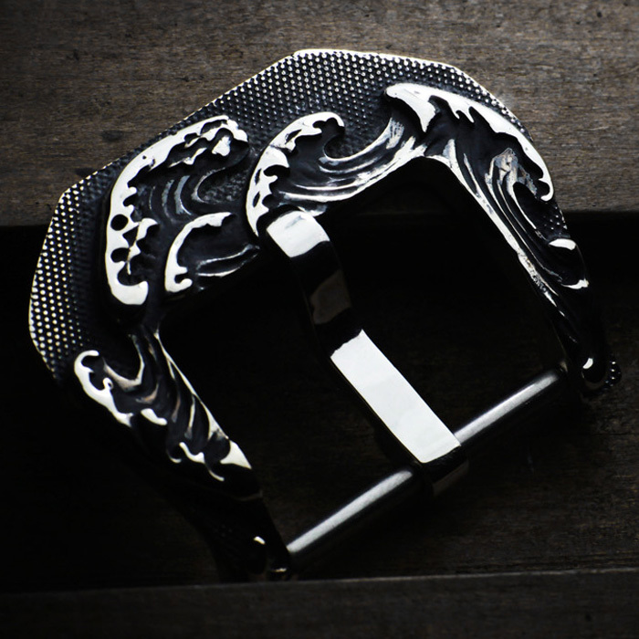 """TSUNAMI"" 925 STERLING SILVER BUCKLE"