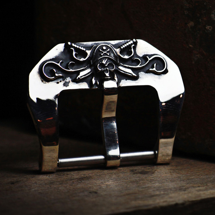"""CARRIBEAN PIRATE"" 925 STERLING SILVER BUCKLE"