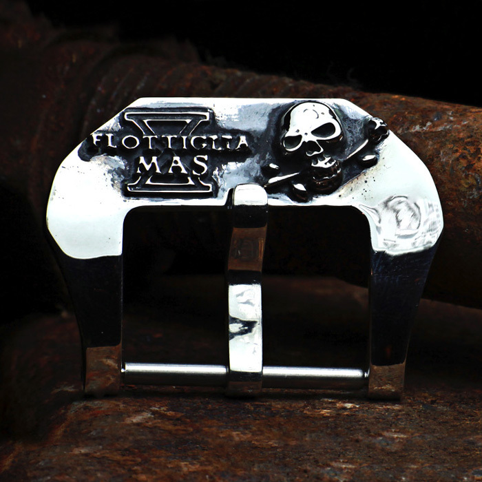 """X-MAS COMMANDO"" 925 STERLING SILVER BUCKLE"
