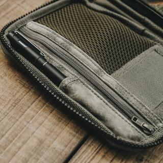 叢林迷彩皮革護照包 / 卡片夾