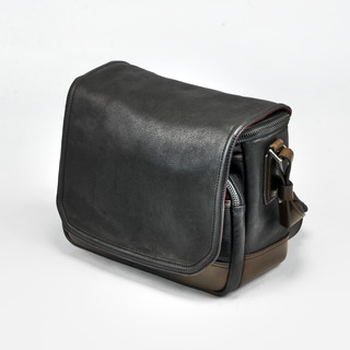 """""""RYKER"""" FULL LEATHER CAMERA BAG (M size)"""
