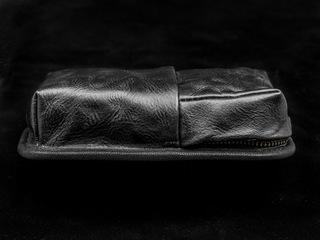 HIDDEN ZIPPER POCKET MODULE (M size, full leather)