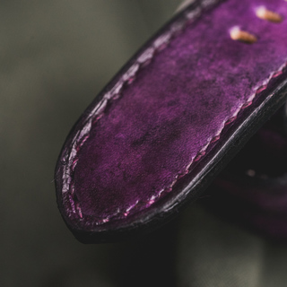"""CAMOUFLAGE"" HAND-DYED COWHIDE LEATHER STRAP, MYSTIQUE PURPLE (for Apple Watch)"