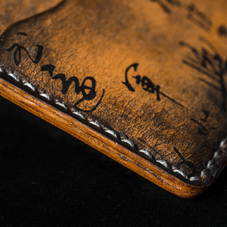"""""""PATH OF WAR"""" CALLIGRAPHY CARD LEATHER SLEEVE"""