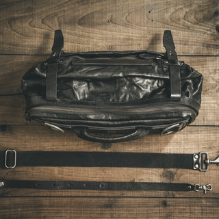 """NIGHT RIDER"" LEATHER SLING BAG"