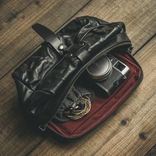 「MINI RIDER ミニライダー」フルレザースリングバッグ