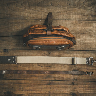 """MINI RIDER"" LEATHER SLING BAG"