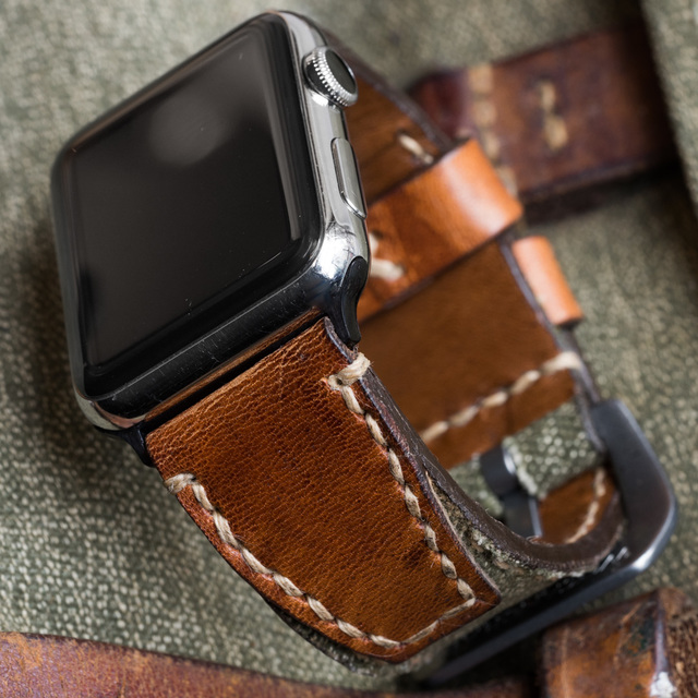 """SALT & PEPPER"" SWISS ARMY RUCKSACK HANDMADE CANVAS STRAP, NO STAMP (for appleWatch)"