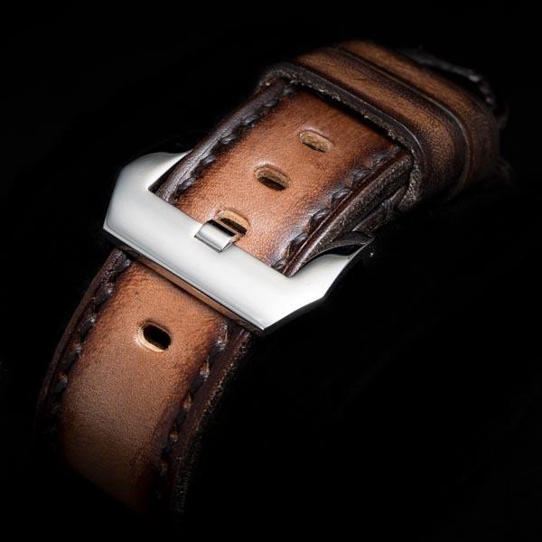 HAND DYED LEATHER STRAP TEA BROWN #61